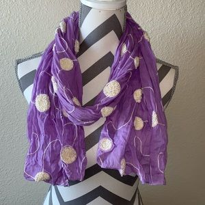 Lavender with Cream Scarf.